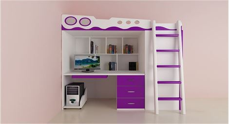 Picture of Joyce Bunk Bed cum Wardrobe
