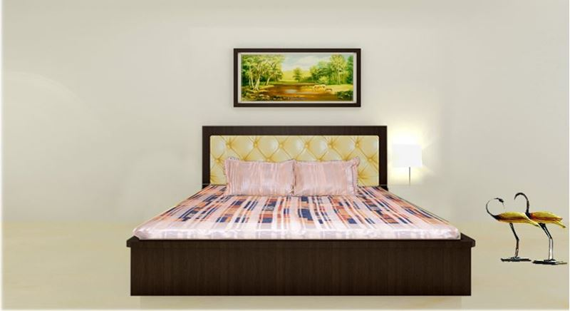 get modern complete home interior with 20 years bed wardrobe set