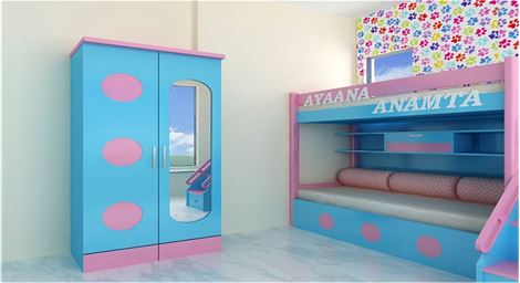 Picture of Andre 2 Door Children Wardrobe