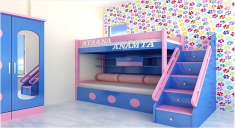 Picture of Cavin Bunk Bed +Stair Wardrobe