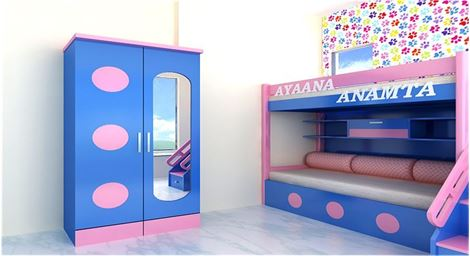 Picture of Tony 2 Door Children Wardrobe