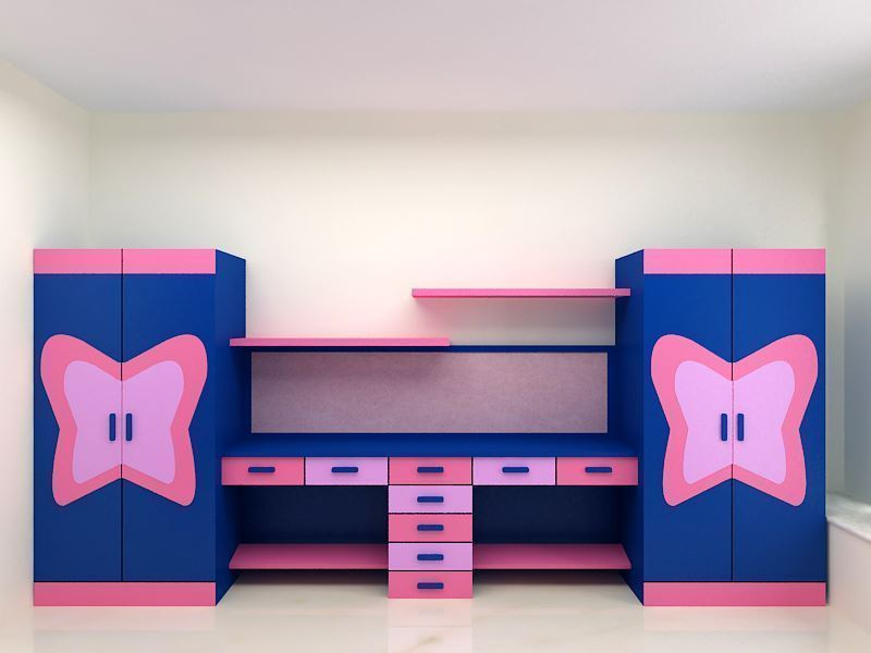 Jake Twin Wardrobe Study Table