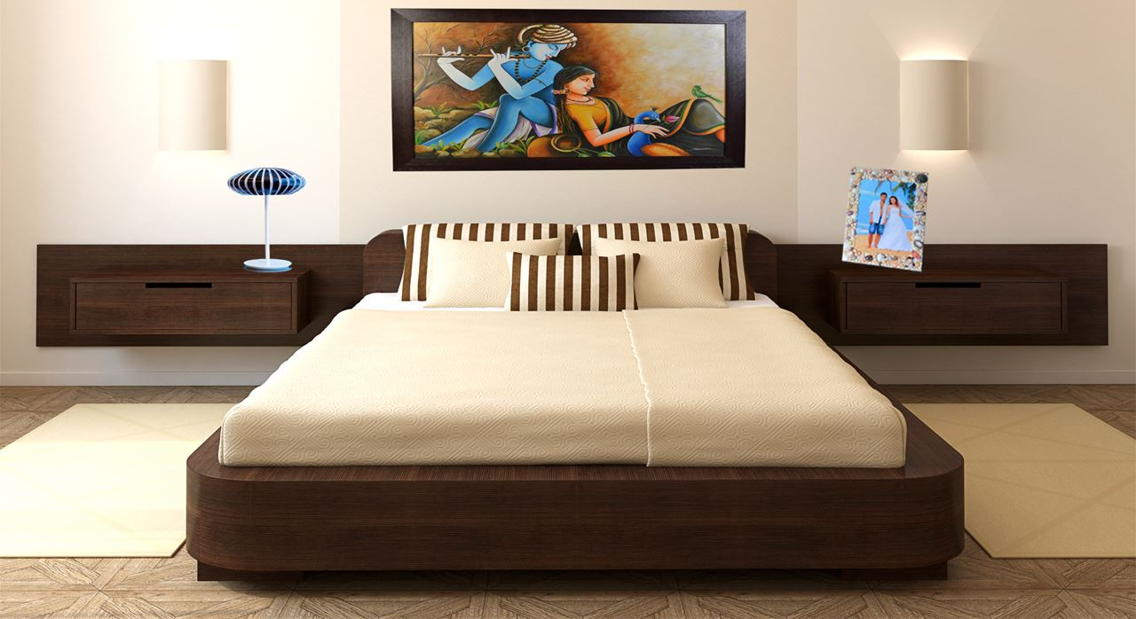 Get modern complete home interior with 20 years durability for Double bed design photos