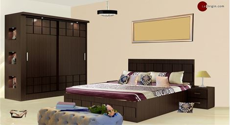 Picture of Paloma Bed Wardrobe Set