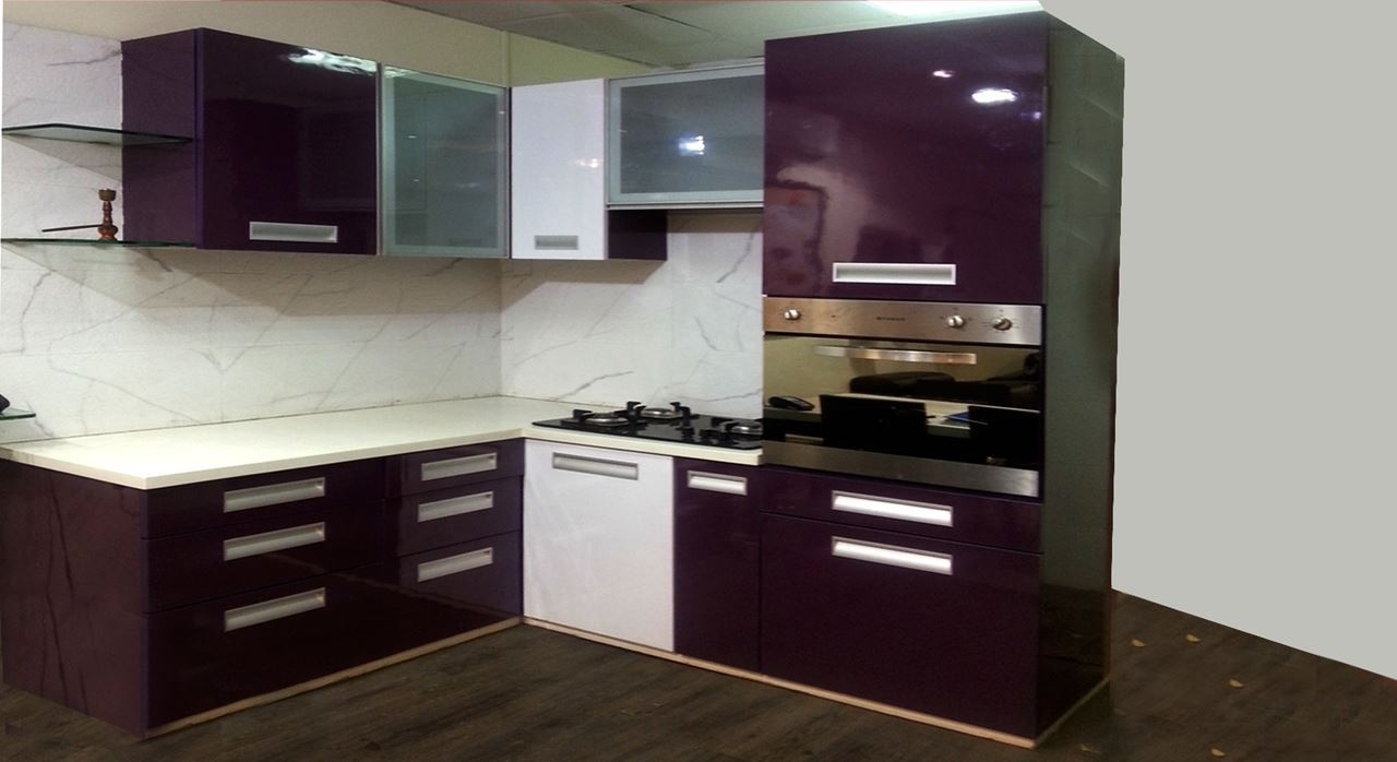 Get modern complete home interior with 20 years durability for Small kitchen cabinet set