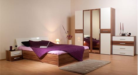 Picture of Mossoni Bed Wardrobe Set