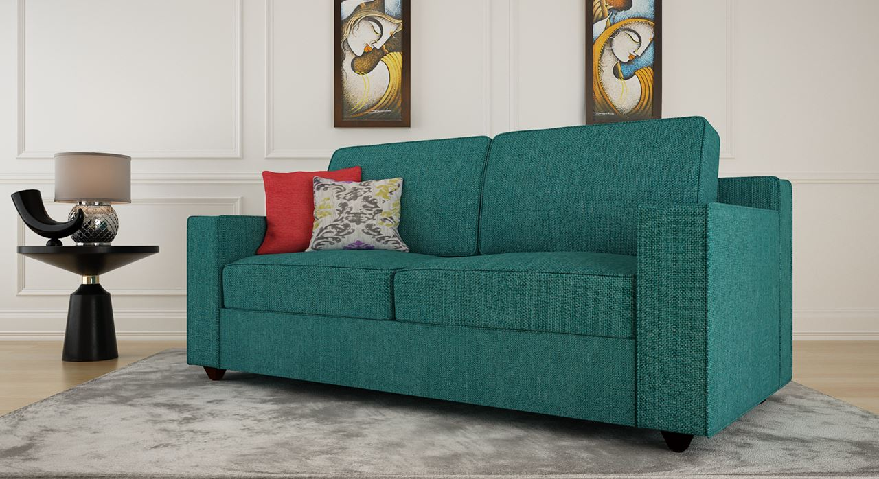 Get Modern Complete Home Interior With 20 Years Durability Aileas Sofa Turquoise 3s