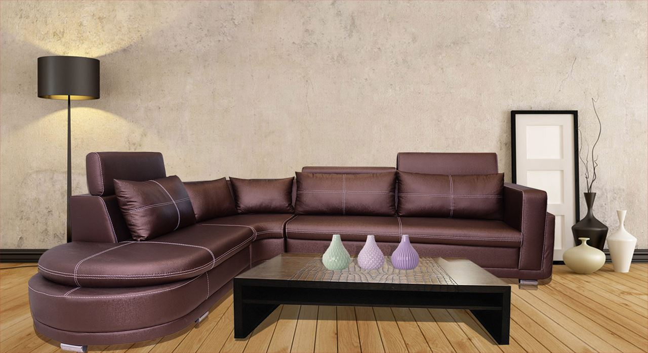 Get Modern Complete Home Interior With 20 Years Durability Armani Bhukati Leatherette Sofa L