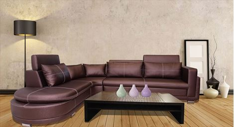 Picture of Armani Bhukati Leatherette  Sofa (L)