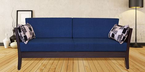 Picture of Teak Wood Sofa Set Bleu 3S
