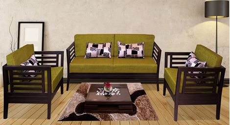 Picture of Teak Wood Sofa Set Olivier