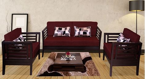 Picture of Teak Wood Sofa Set Rouge