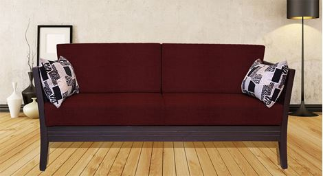 Picture of Teak Wood Sofa Set Rouge 3S