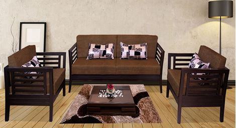 Picture of Teak Wood Sofa Set Brun
