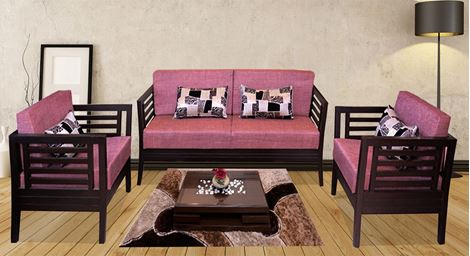 Picture of Teak Wood Sofa Set Rose