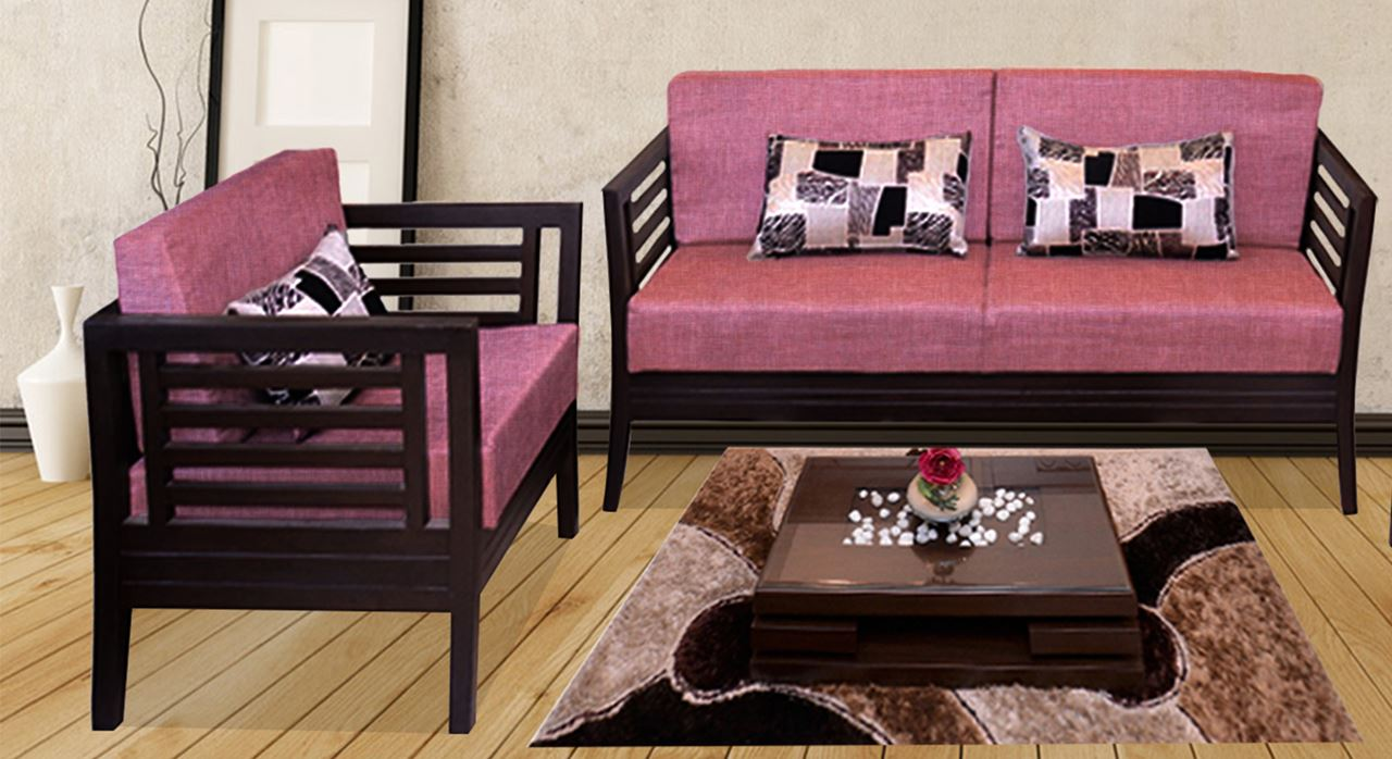 Beautiful Get Modern Complete Home Interior With 20 Years Durability..Teak Wood Sofa  Set Rose