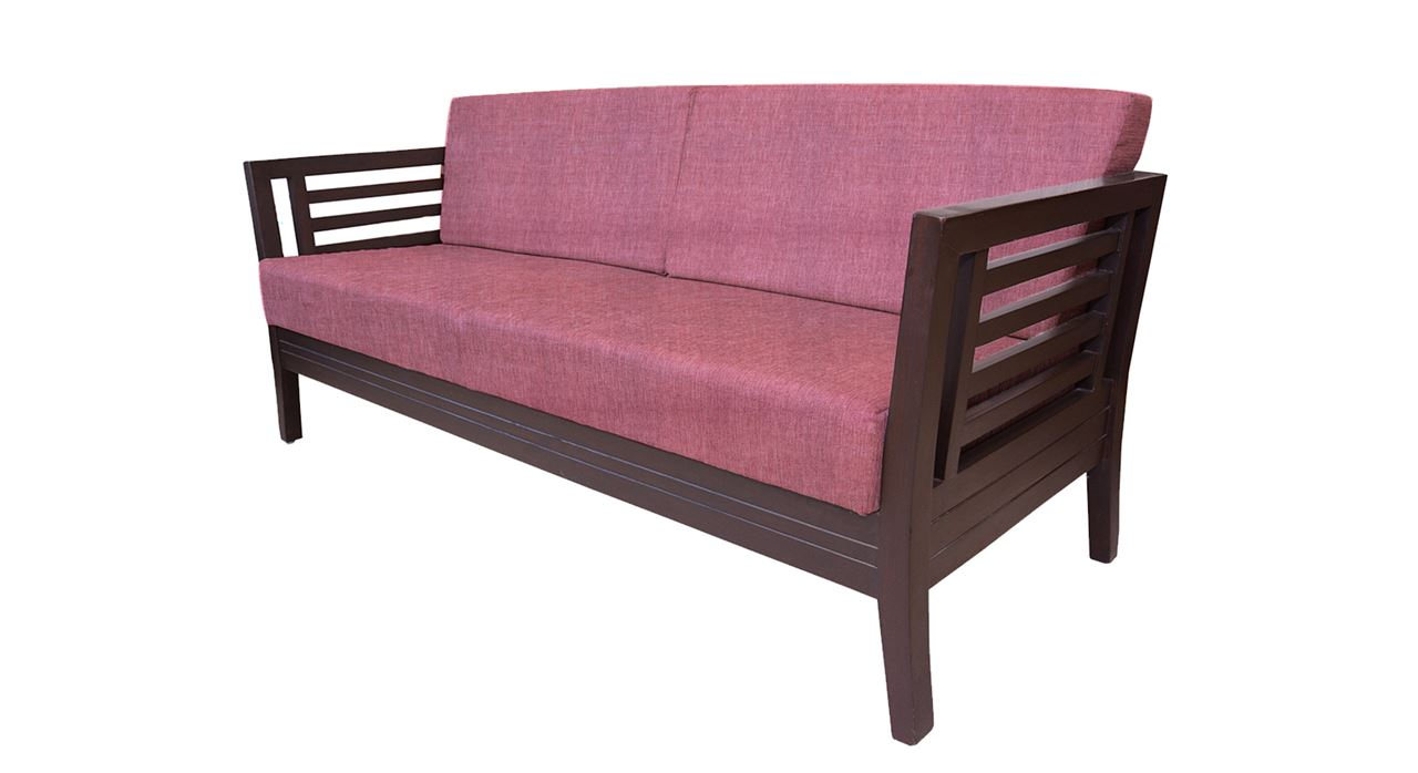 Get Modern Complete Home Interior With 20 Years Durability Teak Wood Sofa Set Rose