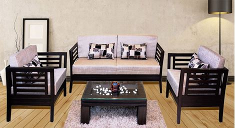 Picture of Teak Wood Sofa Set D'or