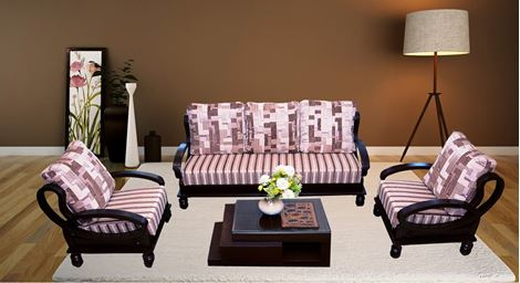 Picture of Katherine Wooden Sofa Set