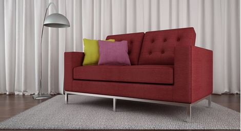 Picture of Gabrielle Loveseat Rouge