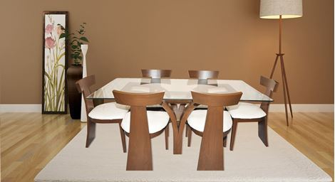Picture of Justin 6 Seater Dining Set