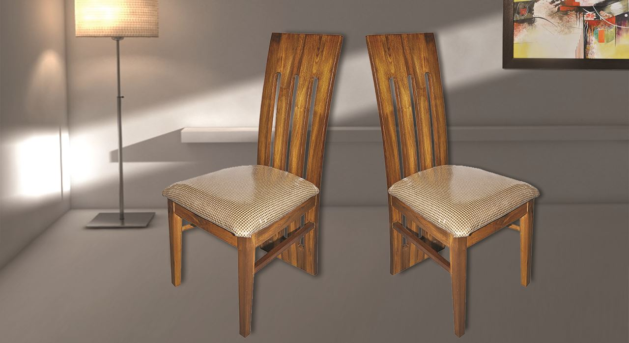 Get Modern Complete Home Interior With 20 Years Durability Teak Wood Dining Set Chairs