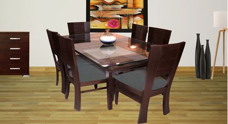 Picture of Rhinr  6 Seat Dinning set Gris