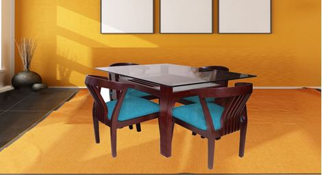 Picture of Millo 4 Seat Dining Set Bleu