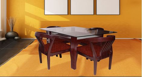 Picture of Millo 4 Seat Dining Set Café