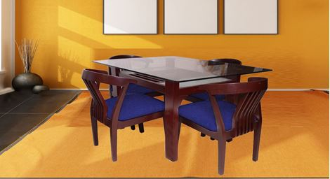 Picture of Millo 4 Seat Dining Set Royal Bleu