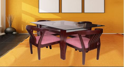 Picture of Millo 4 Seat Dining Set Roze