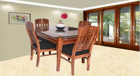 Picture of Albini 4 Seater Dining Set Noir
