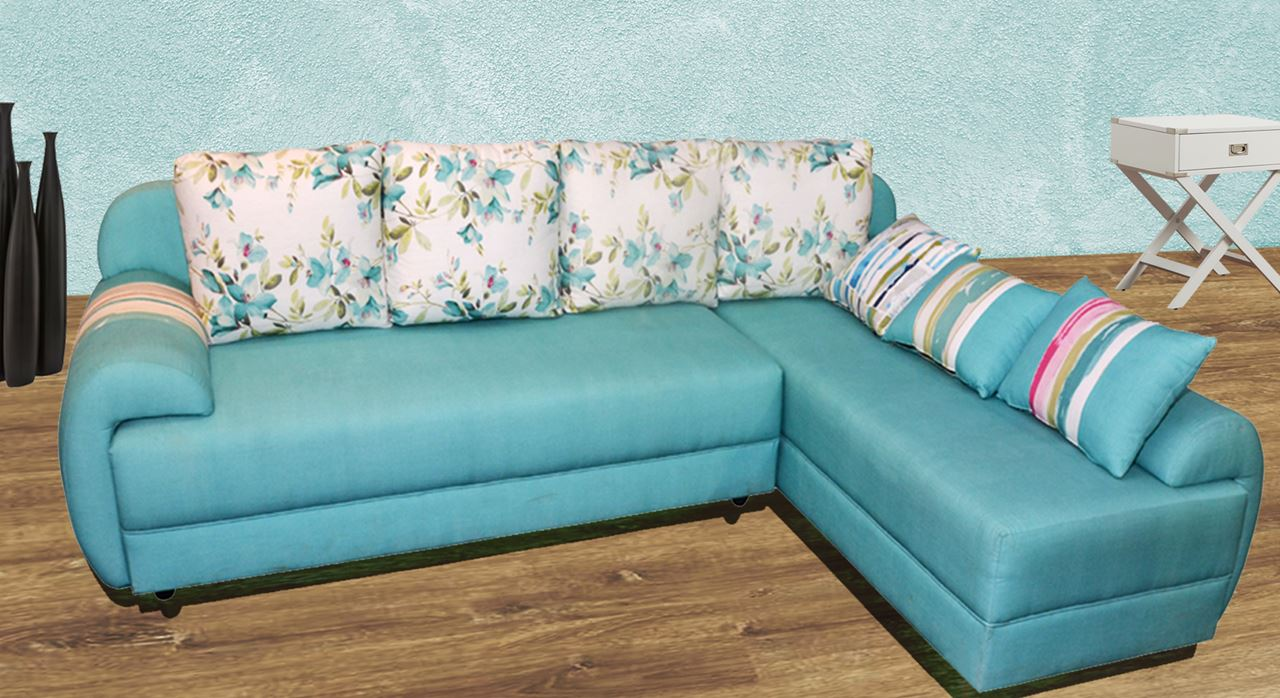 L sofa best upholstery fabric with l sofa affordable for Hometown furniture ghaziabad