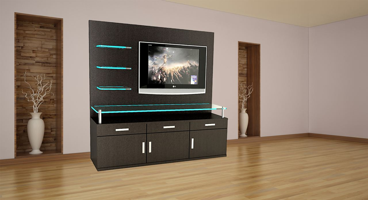 Get Modern Complete Home Interior With 20 Years Durability..teak Wood Or  Laminate Finish TV Unit, LCD Unit, TV Cabinet