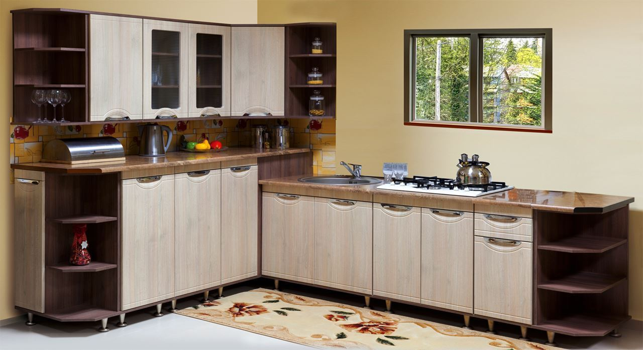 Wooden Furniture Online In India LaOrigin Sanoi Kitchen Cabinet Set