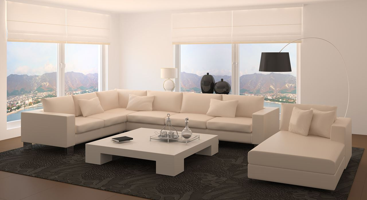 Get Modern Complete Home Interior With 20 Years Durability Theron Fabric Sofa Set